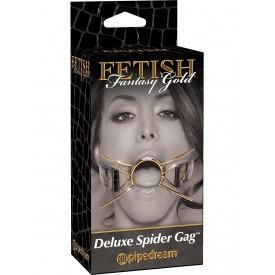 Золотистый расширитель для рта Gold Deluxe Spider Gag