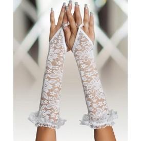 Длинные кружевные перчатки на пальчик
